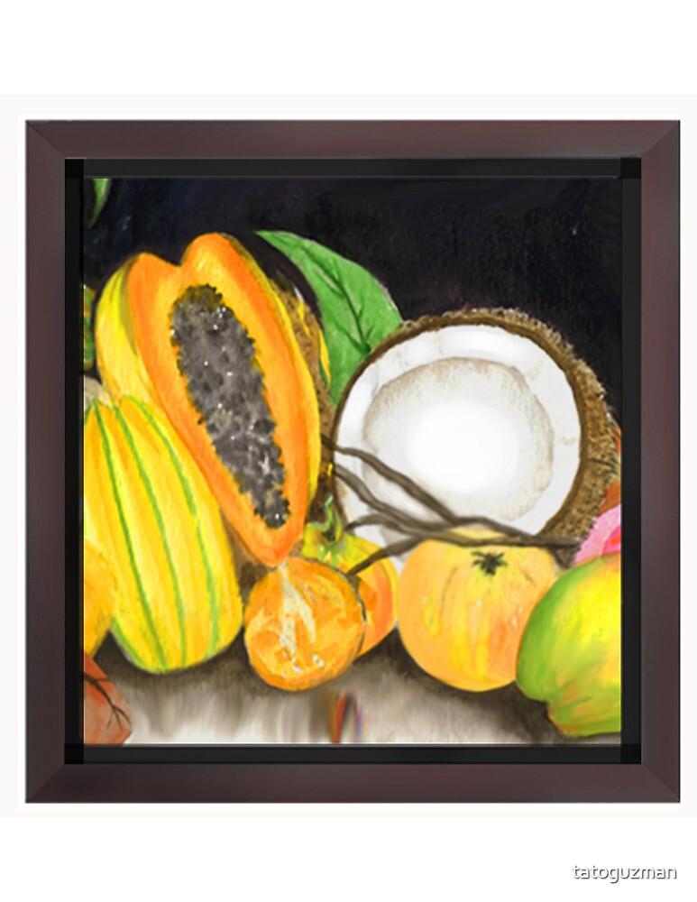 Dry Coconut & Juicy Friend Fruits by tatoguzman