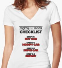 Mighty Mods Check List Women's Fitted V-Neck T-Shirt