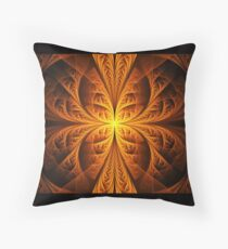 Golden Elliptic Throw Pillow