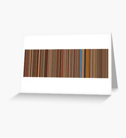 Moviebarcode: The Royal Tenenbaums (2001) [Simplified Colors] Greeting Card