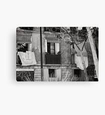 Barcelona Façade  Canvas Print