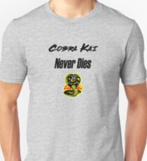 Cobra Kai Never Dies Slim Fit T-Shirt