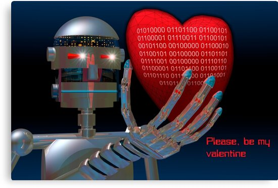 Be My Valentine Robot by Carol and Mike Werner