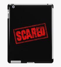 Scared (Vintage Retro Stamp) iPad Case/Skin