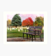 Sit Down and Visit for Awhile Art Print