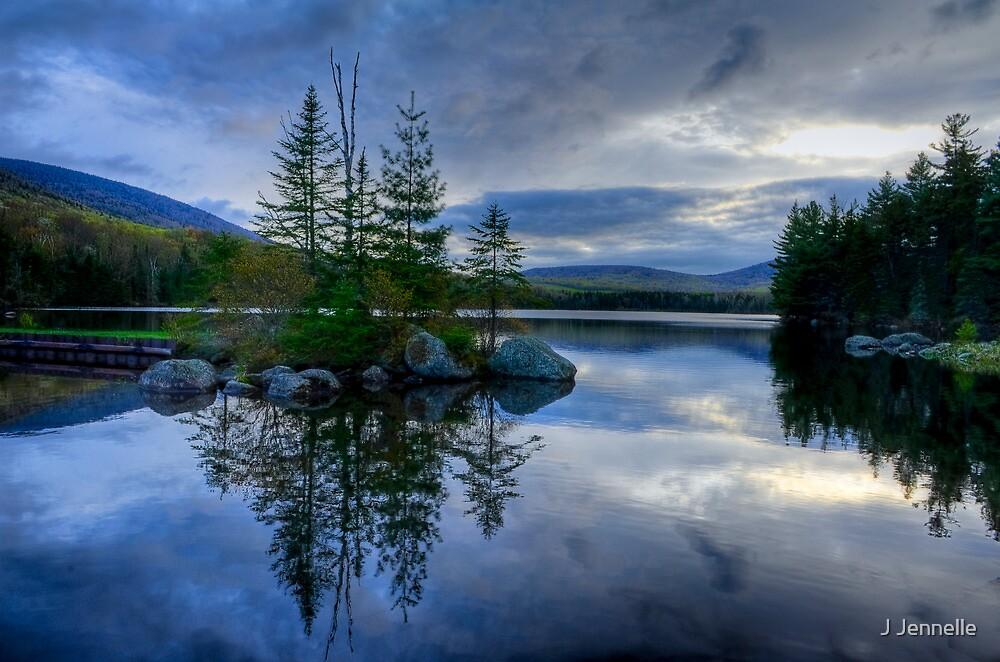 Nightfall on a Mountain Lake by Joe Jennelle