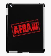 Afraid (Vintage Retro Stamp) iPad Case/Skin