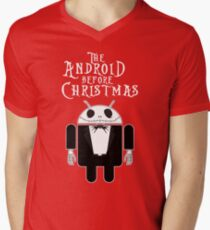 The Android Before Christmas  Men's V-Neck T-Shirt
