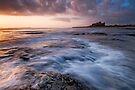 First Light on Bamburgh Castle by Michael Treloar