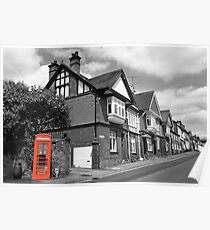 Red Telephone Box - Marlborough Poster