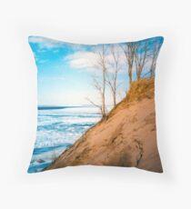 Winter Dune Edge Throw Pillow