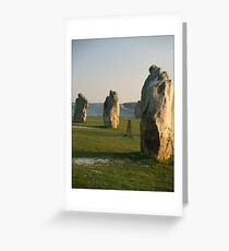 Avebury Sunset Greeting Card