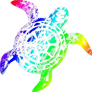 Rainbow Sea Turtle by altick25