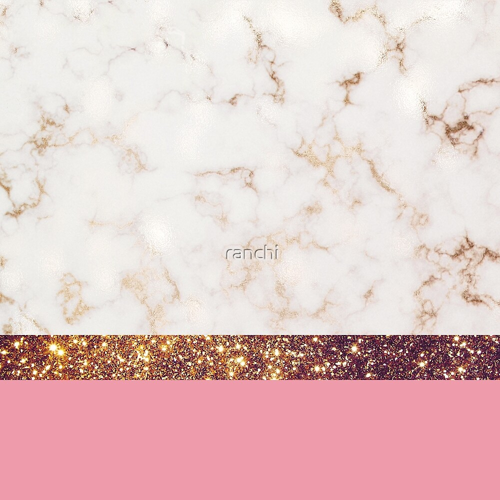 Textured Color Block - Rose Gold & Pink - Marble & Glitter by ranchi