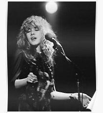 Stevie Nicks black and white Poster