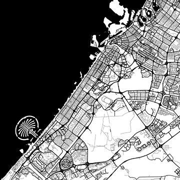 Dubai Map Black by duzhd