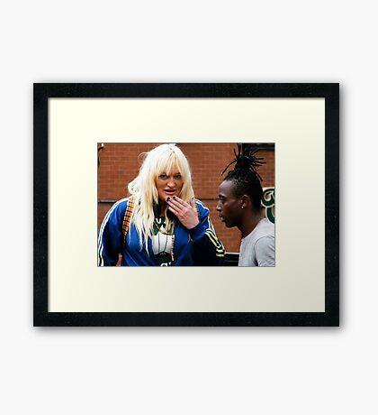 A Conversation Framed Print