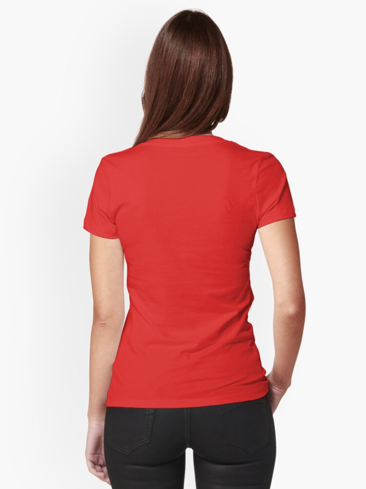 Alternate view of Red Velvet Coffee Fitted V-Neck T-Shirt