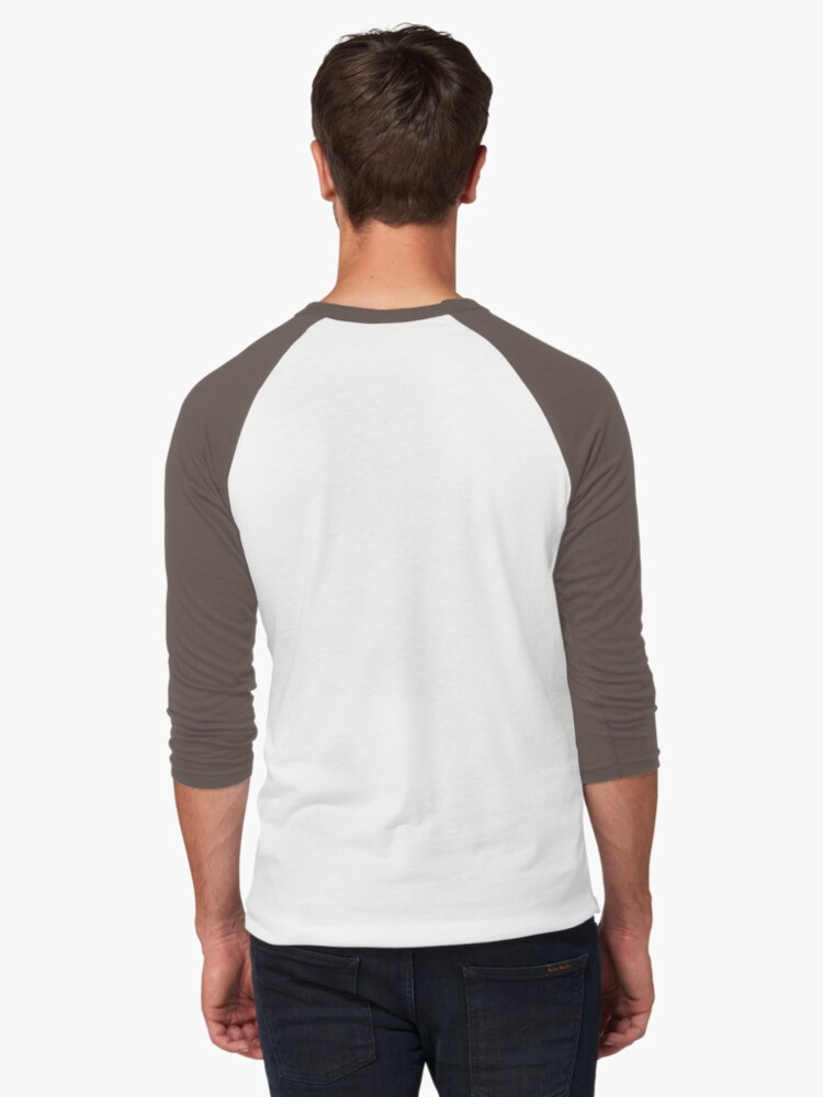 Alternate view of I Need My Space (Black + White) Baseball ¾ Sleeve T-Shirt