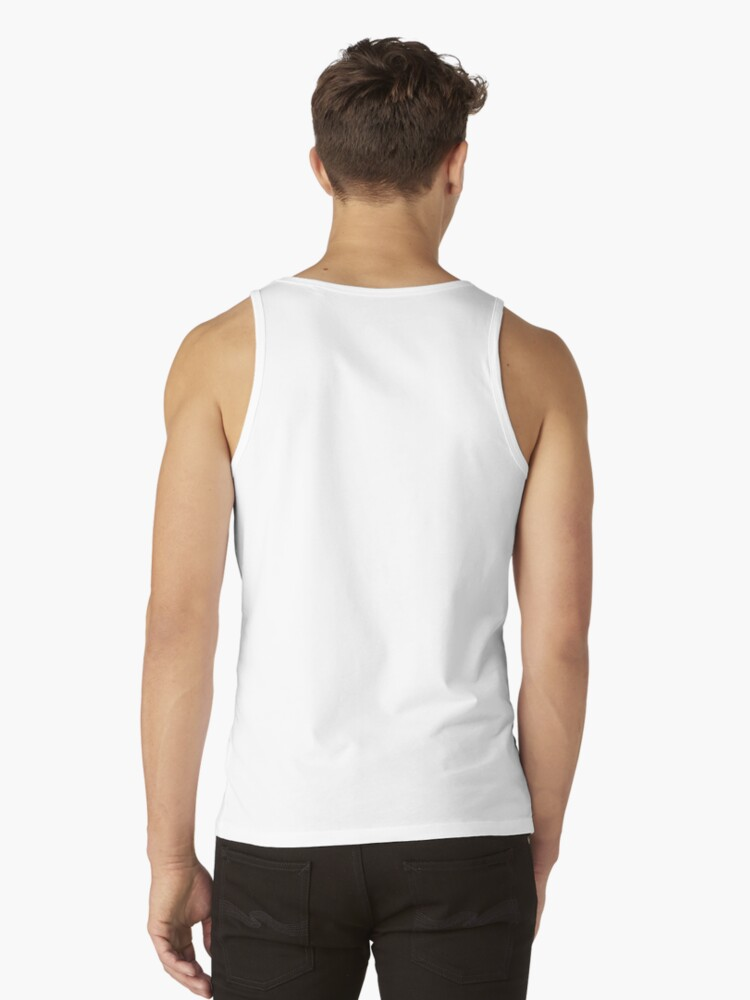 Alternate view of Blush and Payne's Grey Flowing Abstract Painting Tank Top