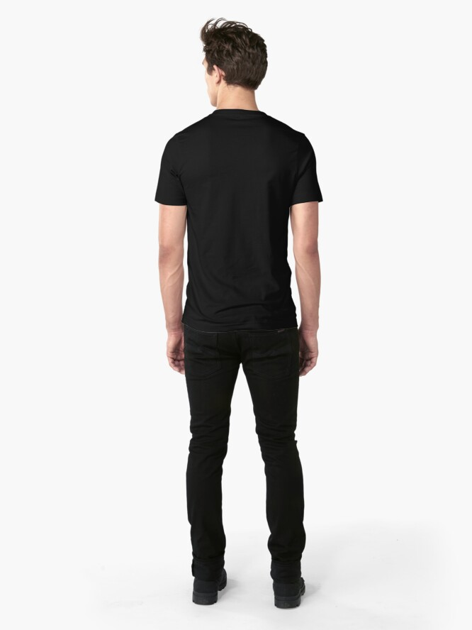 Alternative Ansicht von Vivid Barcelona Stadt Eidechse Slim Fit T-Shirt
