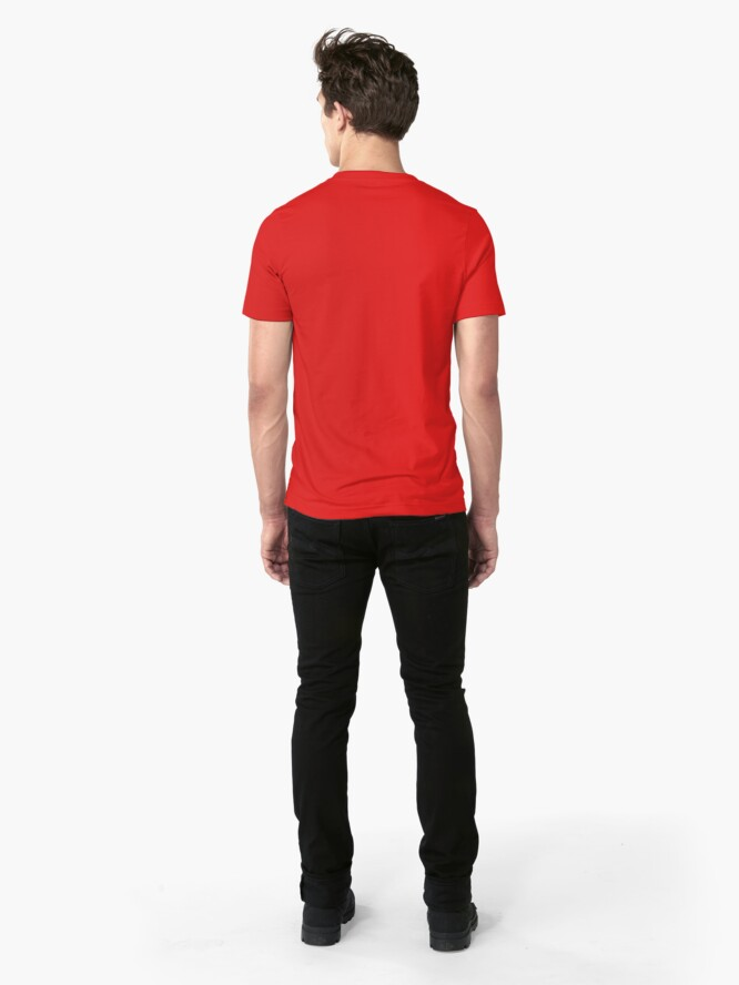 Alternate view of Siligong Valley logo w/text black Slim Fit T-Shirt