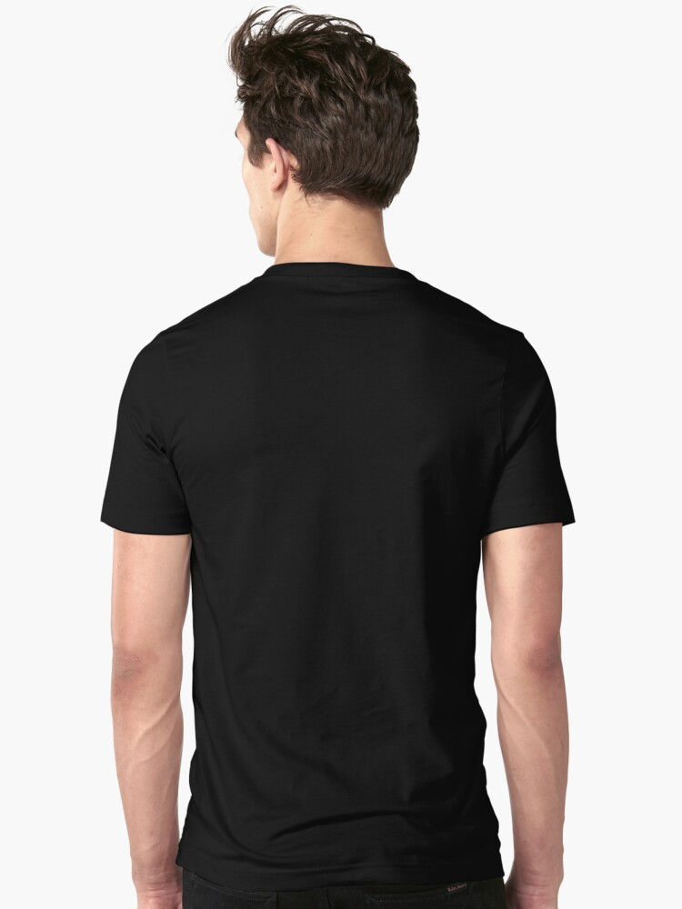 Alternate view of Ghosty Squid (transparent) Slim Fit T-Shirt