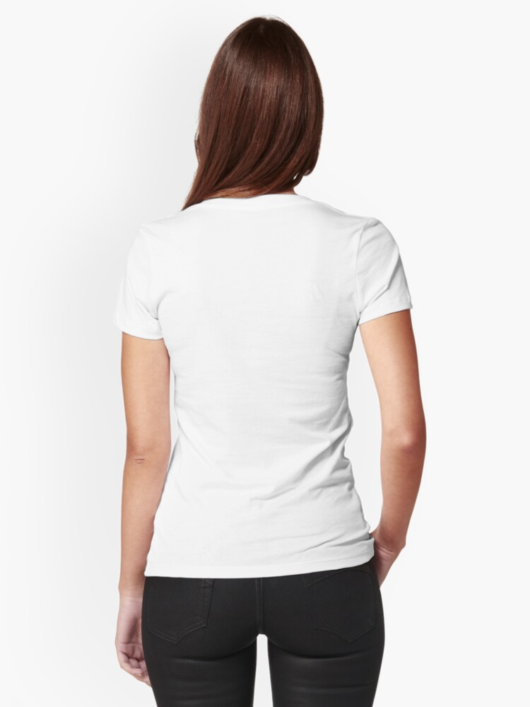 Alternate view of White Collar Fitted T-Shirt