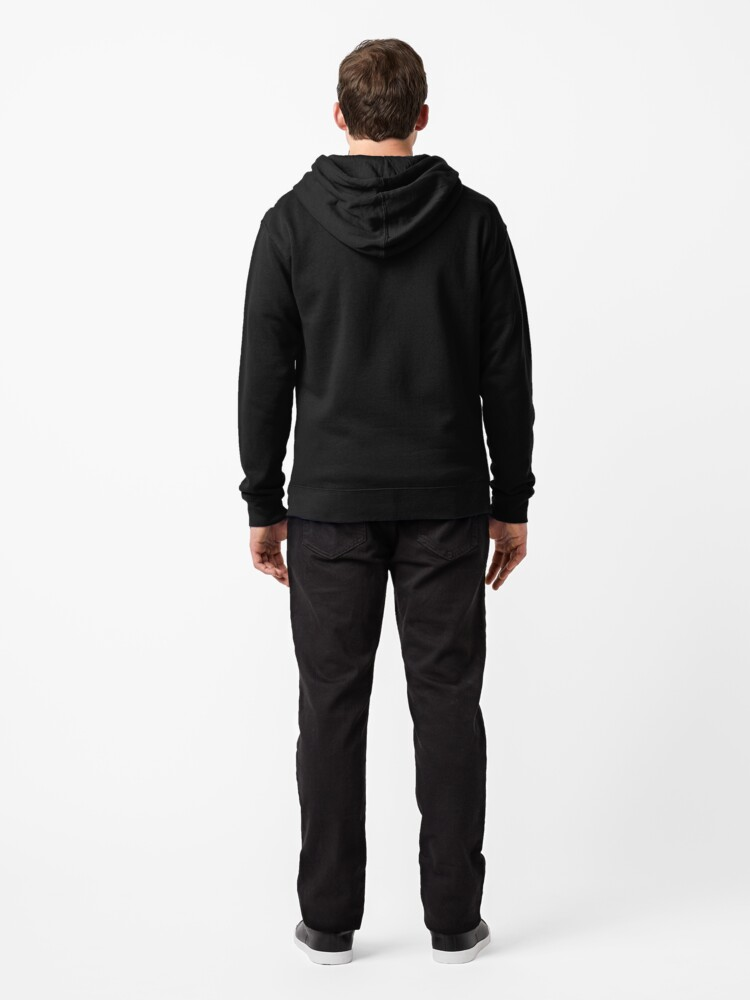 Alternate view of Blooms in the dark Zipped Hoodie