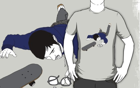 Nerd gets Hurt - t-shirt by YAWN